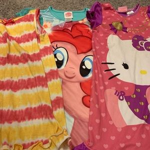 Other - Lot of 3 girls nightgowns size 4/5